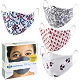 Mediweave Printed Ethnic Cotton Cloth Face Mask, Washable & Reusable - (Mixed Colors& Prints) (Pack of 4)