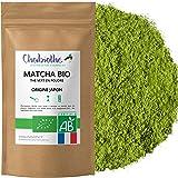 Chabiothé Matcha Dégustation Bio 100g - Origine Japon et sachet biodégradable - conditionné en France - thé vert Matcha en po