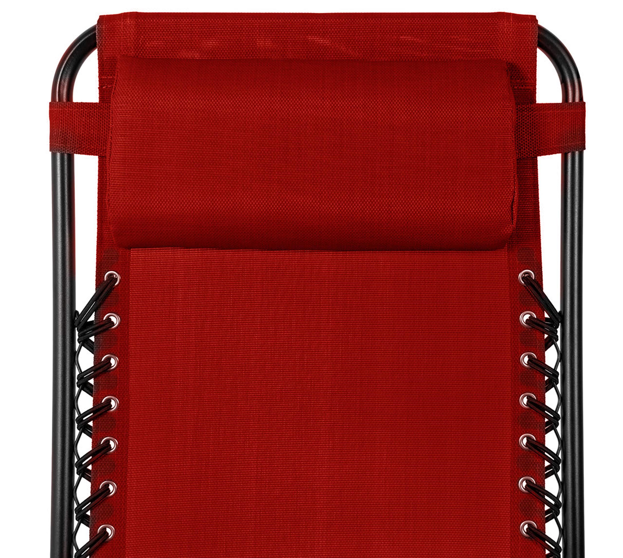 KEPLIN Set of 2 Heavy Duty Zero Gravity Chairs - Red