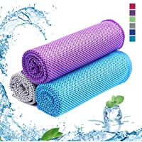 SKL Cooling Towel Ice Cold,Quick Dry Fitness Towel for Instant Relief,Use as Cooling Neck Headband Bandana Scarf, Stay Cool for Pilates,Travel,Camping,Golf,Hiking & Outdoor Sports