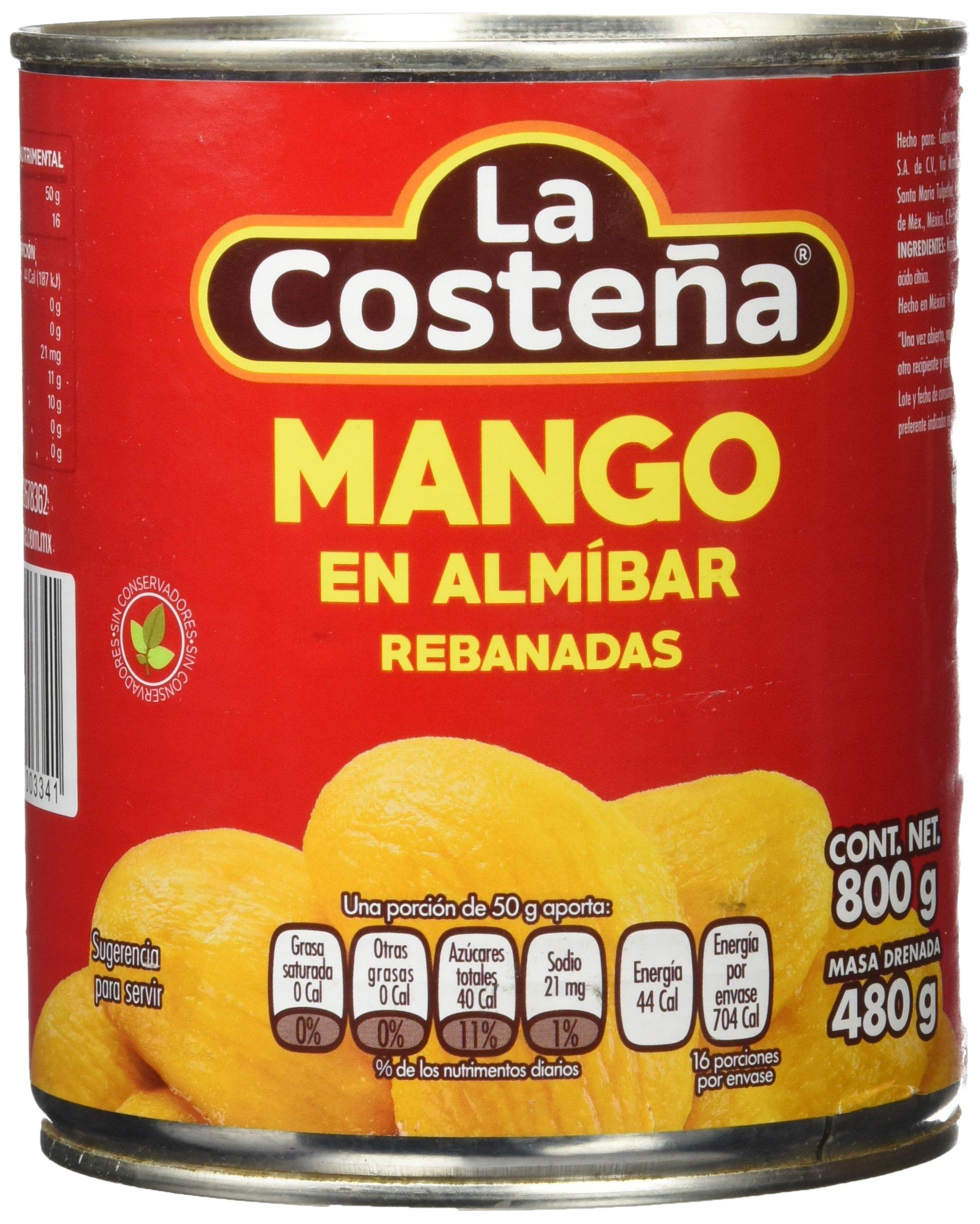 La Costeña Mango en Rebanadas - Paquete de 12 x 800 gr - Total: 9600 gr
