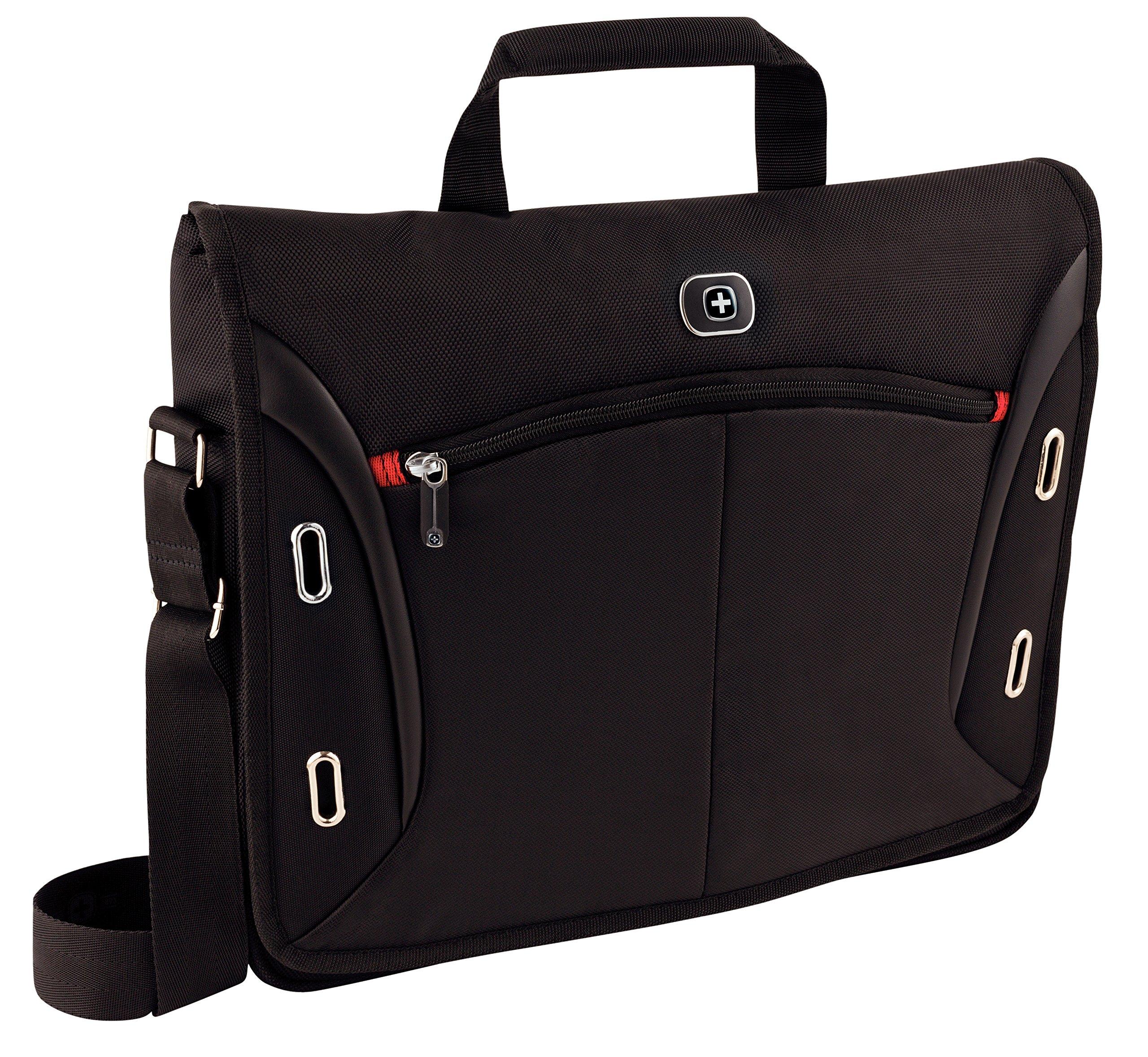 "9105Mud9PwL - Wenger 600665 Developer - Mochila con Compartimento Acolchado para portátiles (15.4"") Color Negro"