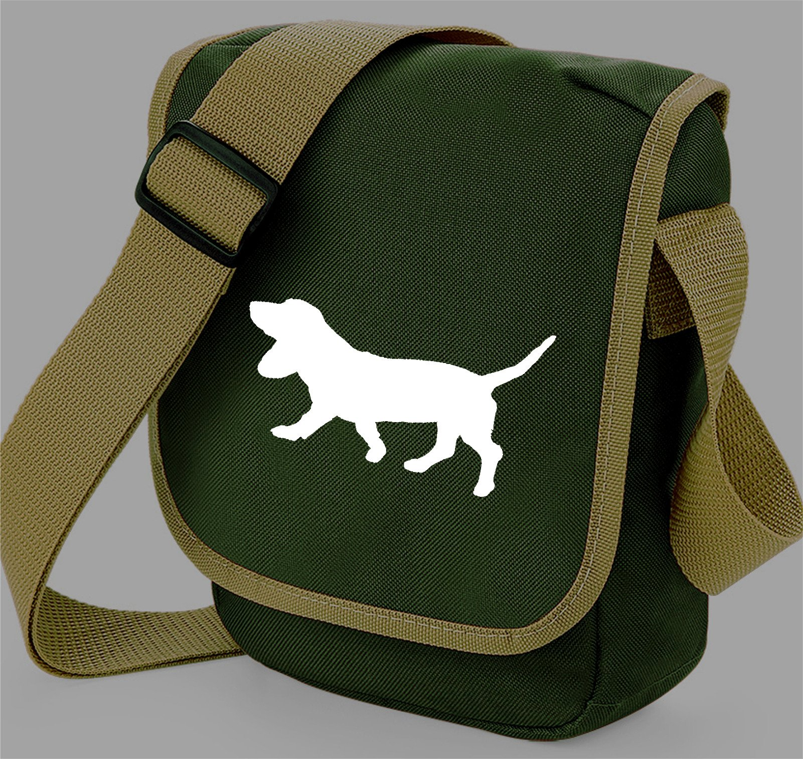 Basset Hound Dog Bag Reporter Bag Shoulder Bag Basset Silhouette Basset Hound Gift Choice of Colours
