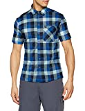 Odlo Herren Shirt s/s Nikko Hemd, Energy Diving Navy/Nile Blue/Check, M