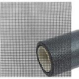 Vliegengaas, per meter, zwart, als reserve-accessoire van glasvezel, gaasweefsel voor dakramen, ramen of deur, als vliegenraa
