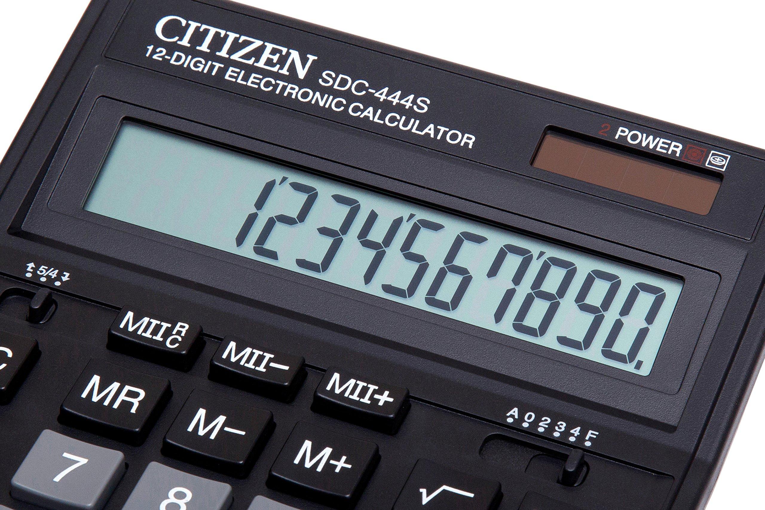 Citizen SDC-444S Calcolatrice da Tavolo Nero