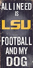 Fan Creations C0640 LSU Football and My Dog Sign