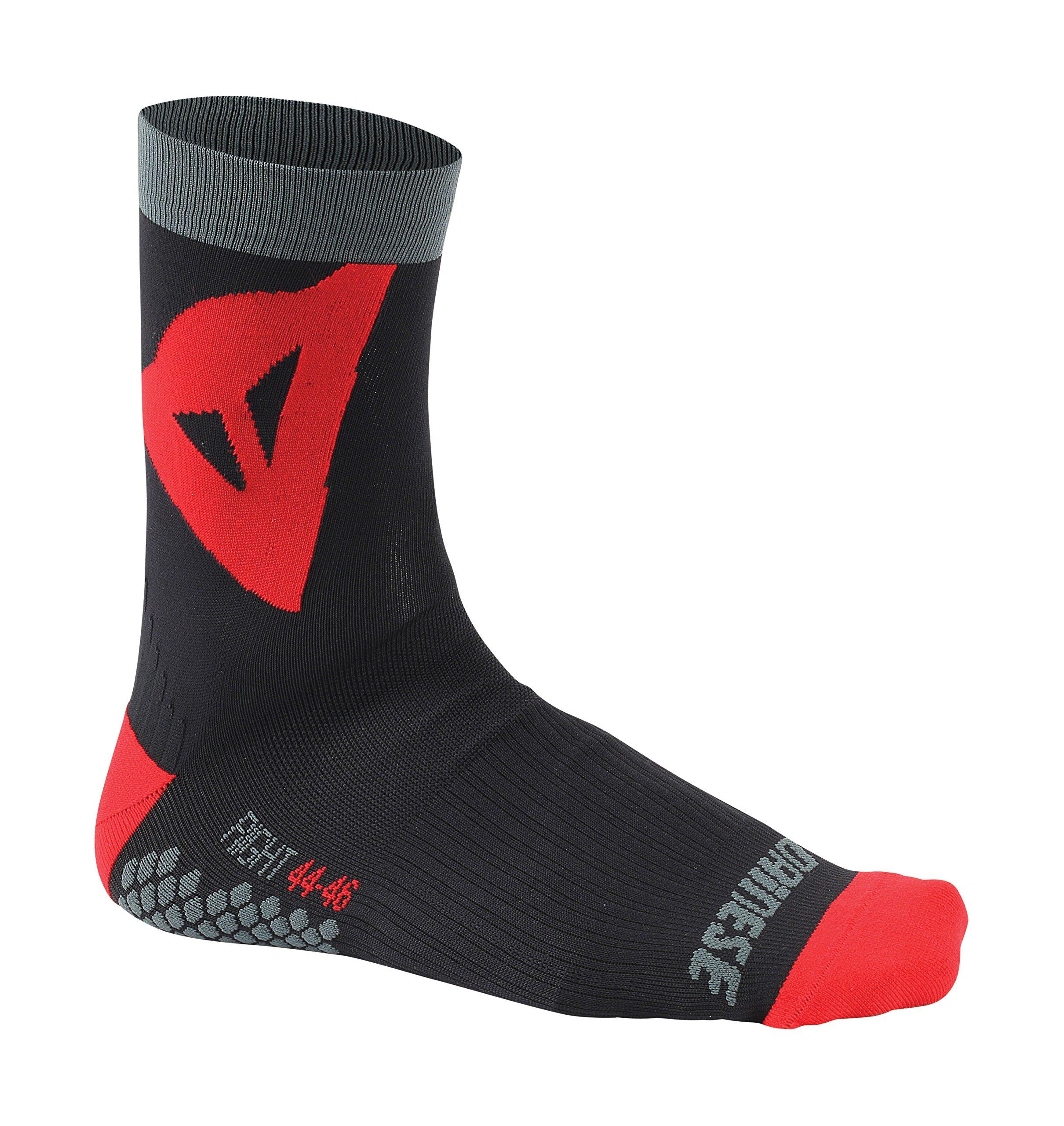 Dainese Herren Riding Mid Socken, Schwarz/Rot, L