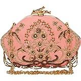 Anekaant Glitz Embellished Velvet Clutch