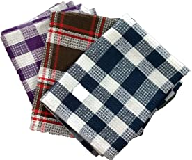 Shop By Room Multi color Waffle Weave Quick Dry Kitchen Napkin/Table Napkin/Roti Napkin(Assorted colour) - Set of 3 -18 x 26 inch - Extra large