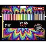Pennarello Premium - STABILO Pen 68 - ARTY - Astuccio da 30 - con 30 colori assortiti