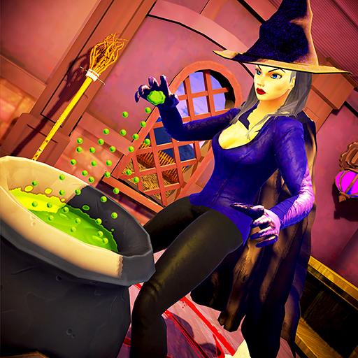unheimlich böse Hexe - Horror Oma Spukhaus unheimlich Spiele kostenlos (Geist Scary Halloween Spiele)