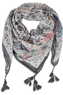 342c4aaafee4b9 FashionCHIMP Schal für Damen aus Viskose mit Muster-Mix und Zier-Quasten,  Dreieck