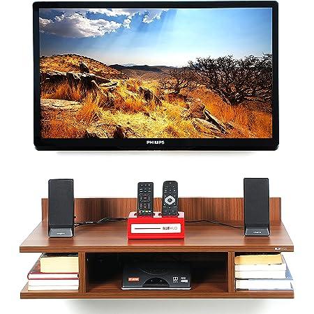 BLUEWUD Reynold Wall Mounted TV Unit/Entertainment Unit  Walnut  Standard…