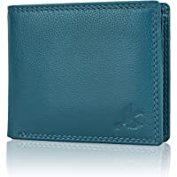 Hornbull Men's Stella Aqua Blue Leather RFID Blocking Wallet