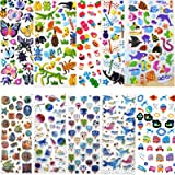 Nifogo Gommettes Enfants 24 Feuilles 950+ Autocollants époxy 3D pour Enfants Autocollants Gonflés Autocollants D'animaux Mign