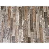 PVC vloerbedekking vinyl vloer in opvallend houtdesign (8,95 €/m²), op maat gesneden (2 m breed, 6,5 m lang)