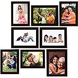 Amazon Brand - Solimo Collage Photo Frames, Set of 8, Black