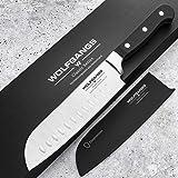 WOLFGANGS hochwertiges Santoku Messer japanisch - Sushi Messer extrascharfe rostfreie Premium-Klinge - Santokumesser aus deut