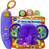 VTech-El Libro de Trompa Cuento de tela interactivo para bebé con un suave elefante de peluche y diferentes texturas para des