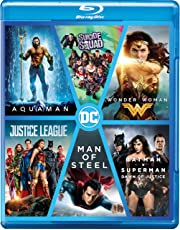 DC 6-Movies Collection: Aquaman + Suicide Squad + Wonder Woman + Justice League + Man of Steel + Batman v Superman: Dawn of Justice (6-Disc Box Set)