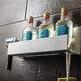 Stiller & Steiner Półka prysznicowa bez wiercenia z uchwytem na golarkę I uchwyt szamponu do prysznica i łazienki I przykleja