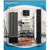 Amazon Basics Kit de croquis et dessin 17pièces avec crayons inclus