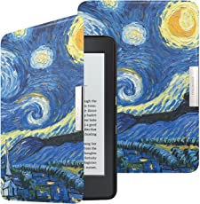 Moko Hülle für Kindle Paperwhite, Ultra Slim PU Leder Tasche Schutzhülle mit Auto Sleep/Wake up Funktion für Amazon All-New Kindle Paperwhite (Alle 2012, 2013, 2015 und 2016 Version), Sterne Nacht