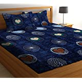 HIYANSHI HOME FURNISHING Microfiber King Size Double Bedsheet with 2 Pillow Covers (Multicolour)