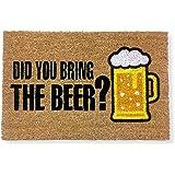 koko doormats felpudos Entrada casa Originales, Fibra de Coco y PVC, Felpudo Exterior Did You Bring The Beer?, 40x60x1.5 cm |