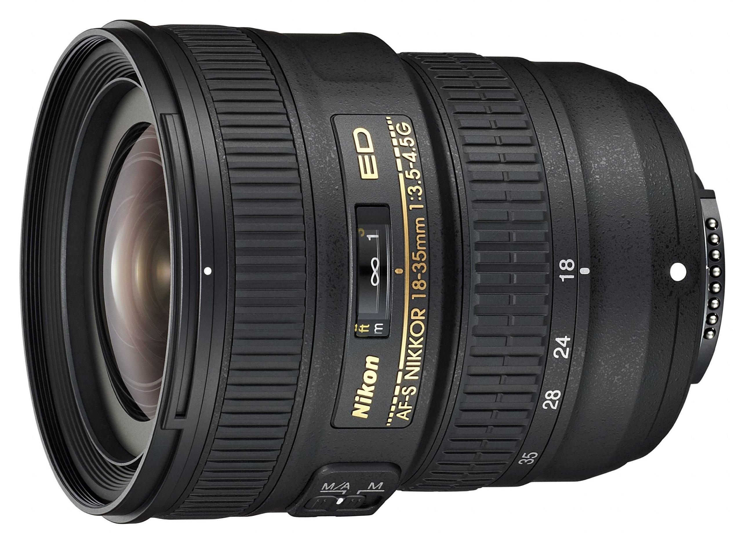 Nikon Obiettivo Nikkor AF-S 18-35 mm f/3.5-4.5G ED, Nero [Versione EU]