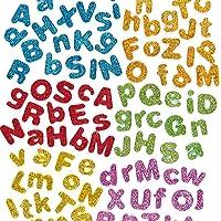 Baker Ross Lettres de l'alphabet en mousse autocollante et pailletée (lot de 850) - Matériel créatif pour enfants et…