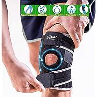 TECH THERAPEUTICS Tutore Ginocchio Legamenti per Sport e Riabilitazione con Stabilizzatori Laterali Traspirante e…