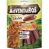 Adventuros Purina Snack Cane Mini Stick al Gusto Bufal, 6 Buste da 120g Ciascuna