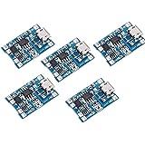 xcluma MicroUSB 5V 18650 Lithium Battery 1A Charging Module W TP4056 Protection (5 PCS)