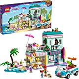 LEGO 41693 Friends Surfer Beachfront Beach House Building Set with Car Toy, Ice Cream Shop and Mia and Andrea Mini Dolls