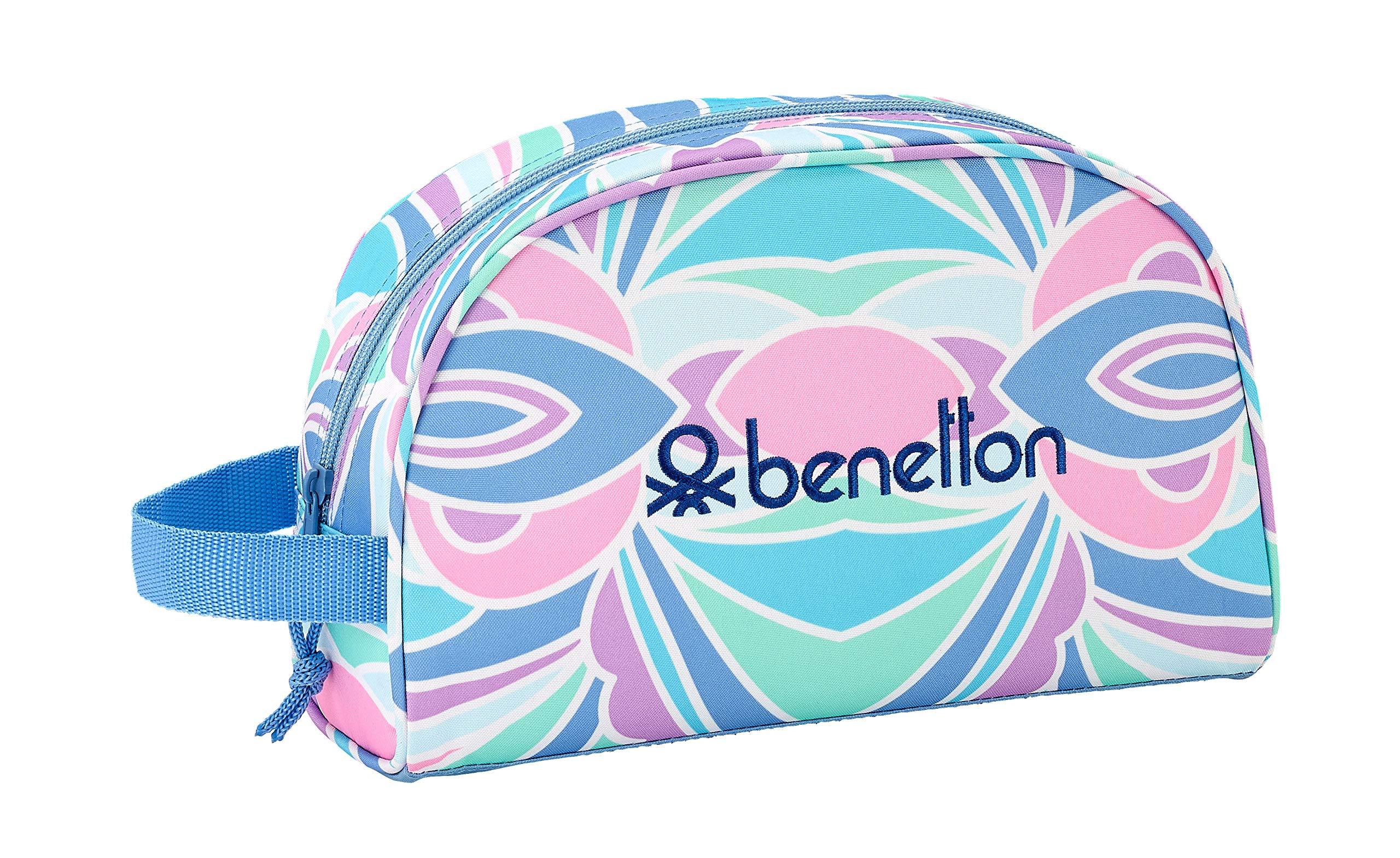 Benetton «Arcobaleno» Oficial Mochila Escolar Infantil Pequeño Con Asa 280x100x180mm