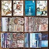 Scrapbooking Autocollant Vintage, 220 Pcs Stickers Scrapbooking, Papier de Scrapbooking pour Deco de DIY Album Diary Photo Ca