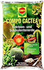 COMPO CACTEA Kakteen- und Sukkulentenerde mit 8 Wochen Dünger für alle Kakteenarten und dickblättrige Pflanzen