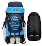 POLE STAR XPLORE 55 ltrs with Rain Cover Rucksack/Hiking/Trekking Backpack Bag 55 ltrs (Sky)