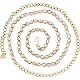 I Jewels 18k Gold Plated Ethnic Kundan Stone Studded Kamarband/Waist Belly Chain for Women (B019)