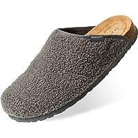 Dunlop Ciabatte Uomo, Pantofole Invernali da Casa, Ciabatta Antiscivolo con Pelliccia E Soletta Memory Foam, Babbucce…