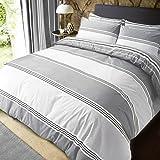 Sleepdown Beddengoedset voor eenpersoonsbed, katoen polyester, grijs, tweepersoonsbed