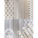 """Asian Hobby Crafts Printed Gift Wrapping Paper (Assorted Design, Size - 26"""" x 19"""" Inches) : Pack of 10 Sheets - Golden/Silver"""