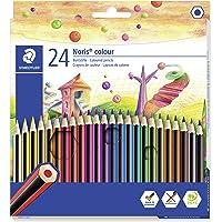 Staedtler Crayons de Couleur en Bois Qualité Supérieure, Prise en Main Douce et Très Confortable, Étui Carton avec 24…