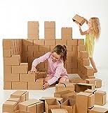 Riesige Bausteine - kreatives Spielzeug, 60 XXL Bausteine. Wunderschönes Geschenk für ein Mädchen und einen Jungen, spiele endlose Szenarien aus
