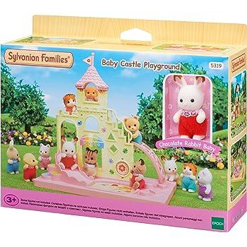 Sylvanian Families Le château et Crème Le bébé Lapin Chocolat Mini-Univers,  5319, Multicolore 04f3604c1661