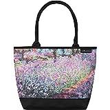 VON LILIENFELD Handtasche Damen Kunst Motiv Blumen Claude Monet Der Garten Shopper Maße L42 x H30 x T15 cm Strandtasche Henke