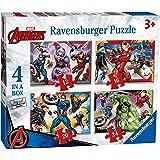 Ravensburger Marvel Avengers – Caja de 4 Pulgadas (12, 16, 20, 24 Piezas) Rompecabezas para niños a Partir de 3 años, 0 (6942