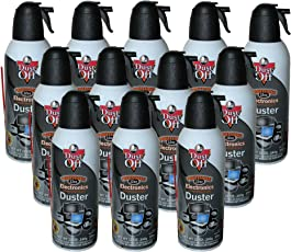 Dust Off Compressed Gas Duster 12 oz. each can (Pack of 12)